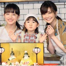 左から清原果耶、新津ちせ、倉科カナ(C)日刊ゲンダイ