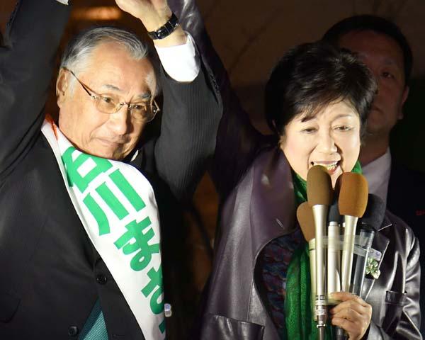 千代田区長選は圧勝だった(C)日刊ゲンダイ