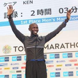契約メーカーのニューシューズで東京マラソンを制したキプサング