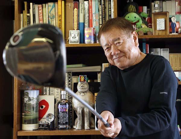 大好きなゴルフに全力で取り組んだ長友啓典さん(C)日刊ゲンダイ