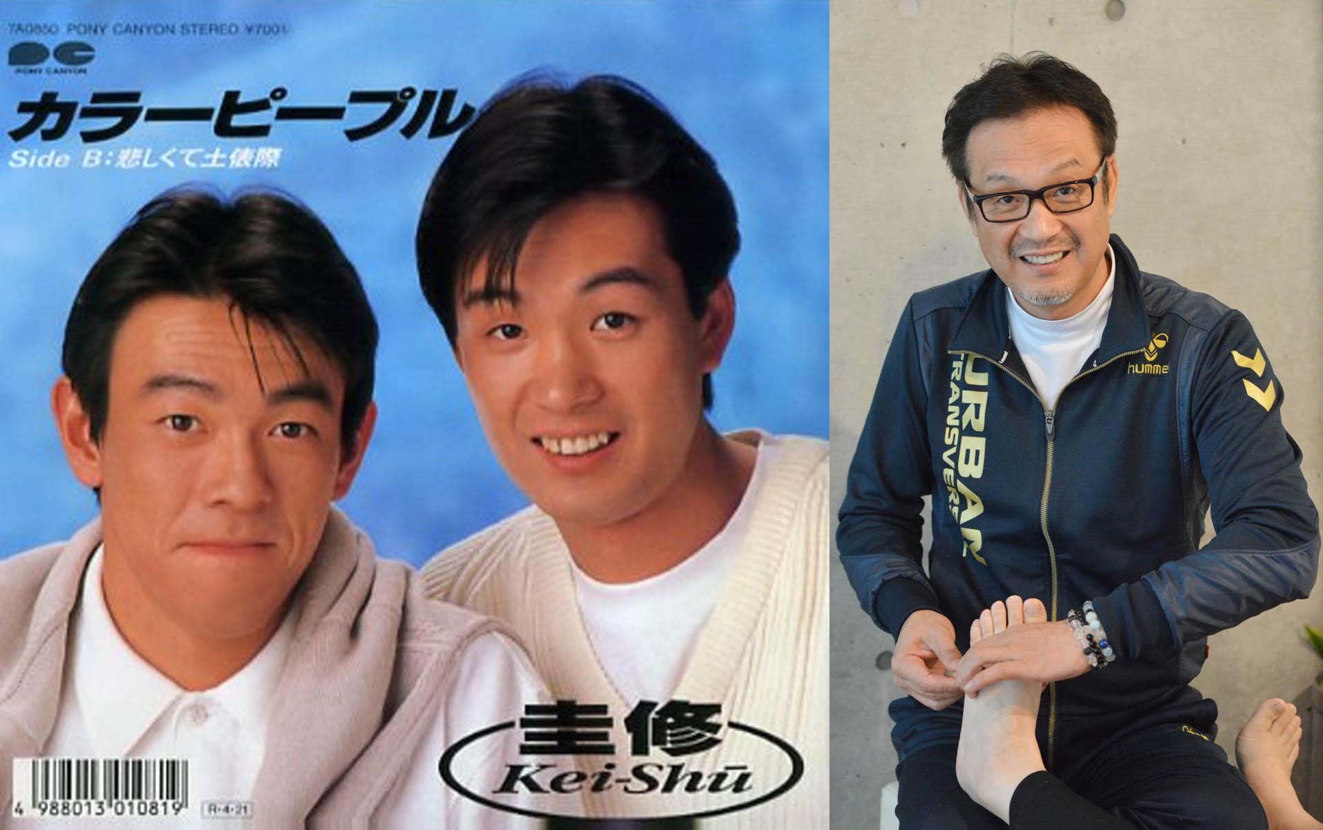 発売したレコードのジャケットと、現在の和泉修さん(C)日刊ゲンダイ