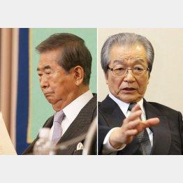 浜渦元副知事は何を語る?(左は石原元都知事)/(C)日刊ゲンダイ