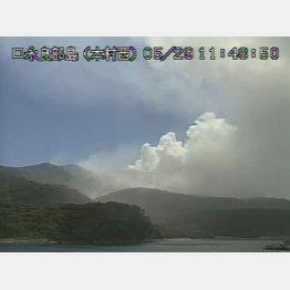15年5月には口永良部島が噴火した(気象庁HPから)