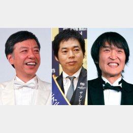 左から板尾創路、今田耕司、千原ジュニア(C)日刊ゲンダイ