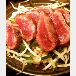 「馬喰ろう」の桜肉の刺身5種盛り/(C)日刊ゲンダイ