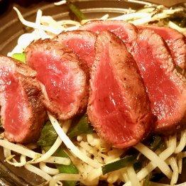 桜肉は刺し身の鮮度はもちろん 赤身の炙りが体に染みる