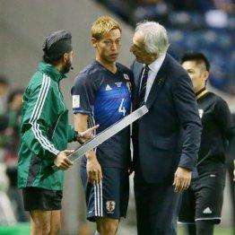 16年11月のW杯予選サウジ戦で本田は後半から出場