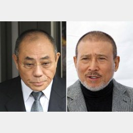 神戸・井上邦雄組長(左)と6代目・司忍組長(C)日刊ゲンダイ