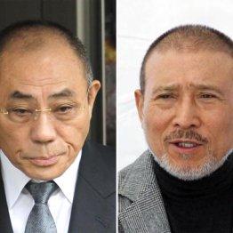神戸・井上邦雄組長(左)と6代目・司忍組長