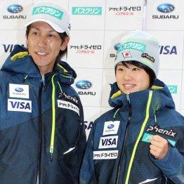 師匠の葛西紀明(左)と伊藤有希(C)日刊ゲンダイ