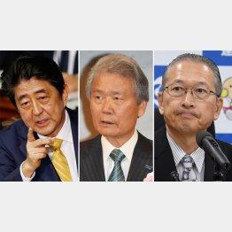 政・使・労が自画自賛(C)日刊ゲンダイ