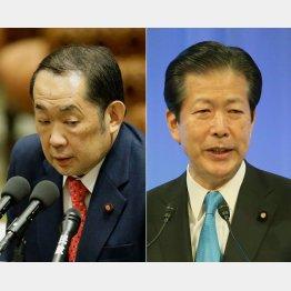 金田勝年法相(左)と山口那津男・公明党代表(C)日刊ゲンダイ