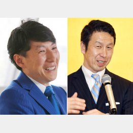 MRTの馬場稔正社長(左)と米山隆一・新潟県知事/(C)日刊ゲンダイ