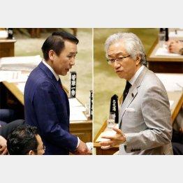 西田議員(右)と葉梨議員は真相解明する気なし(C)日刊ゲンダイ