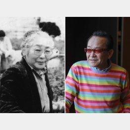 湯原昌幸さん(右)と母・吉のさん/(「覚悟の介護」荒木由美子著から)