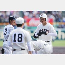 清宮選手は4打数1安打(C)日刊ゲンダイ