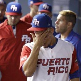WBC決勝で敗れ涙を拭うホセ・ベリオス