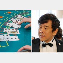 右が「日本カジノスクール」の大岩根校長(C)日刊ゲンダイ