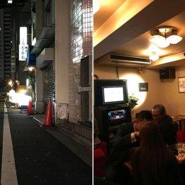 都会の喧騒が消えた浜松町の路地で年季が入った看板に誘われ