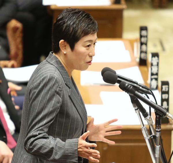 衆院予算委員会で質問する辻元氏(C)日刊ゲンダイ