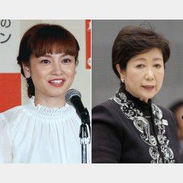 平愛梨(左)の弟を追加公認した小池新党/(C)日刊ゲンダイ