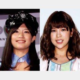 AV女優に転向した高橋しょう子(左)とANRI