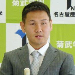 名古屋産業大の入学式に出席した高山