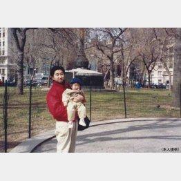 ニューヨーク時代の秋田社長(提供写真)