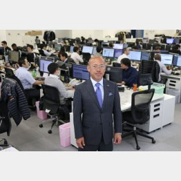 山川博功社長は打倒アマゾンを目指す(C)日刊ゲンダイ