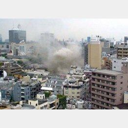 07年、渋谷の温泉施設で起きたガス爆発事故(C)日刊ゲンダイ