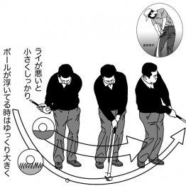 島田幸作<12> ライによってバックスイングの大きさは違う