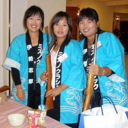 左からアンジェラ・パク、ミン・ナオン、朴仁妃(07年ミズノクラシック前夜祭)/(C)日刊ゲンダイ