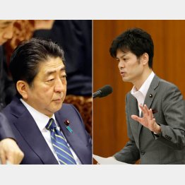 柚木議員(右)の質問にブチ切れた安倍首相(C)日刊ゲンダイ