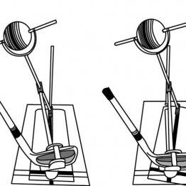 ヘッド軌道に対してフェースが閉じるとスピン軸は左に傾きボールにはフック回転がかかる