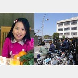 渋谷容疑者が留置されている我孫子警察署(左はリンさん=SNSから)/(C)日刊ゲンダイ