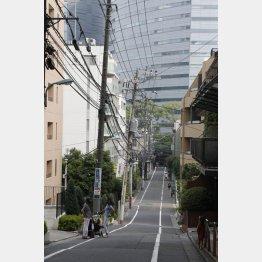 目黒も坂が多い街(C)日刊ゲンダイ