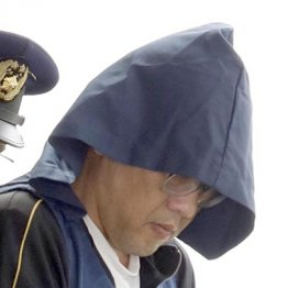 送検される渋谷容疑者
