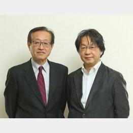斎藤貴男さん(右)と(C)日刊ゲンダイ