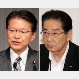 官房長官だった仙谷氏(右)は官僚側に寝返り、大臣の長妻氏は更迭された/(C)日刊ゲンダイ