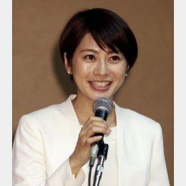 大きな瞳が印象的な久保田アナ(C)日刊ゲンダイ