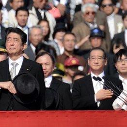 陸上自衛隊観閲式での安倍晋三首相と稲田朋美防衛相