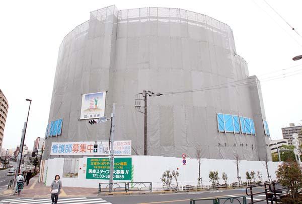 建設中の江東リハビリテーション病院(C)日刊ゲンダイ