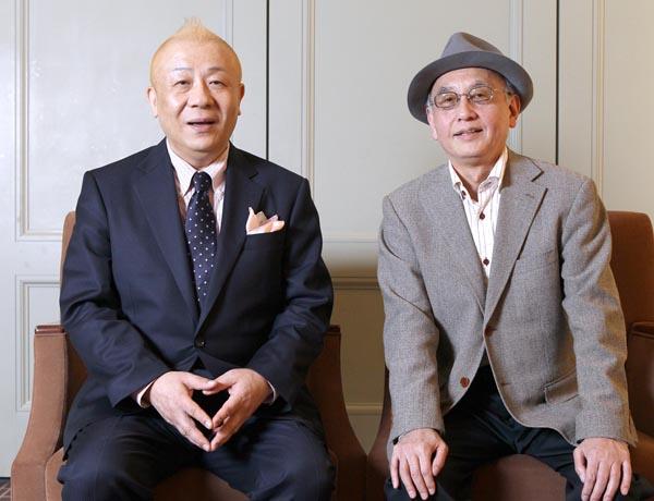 春風亭小朝と吉川潮(C)日刊ゲンダイ