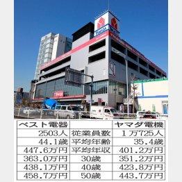 家電量販店の雄が激突(C)日刊ゲンダイ