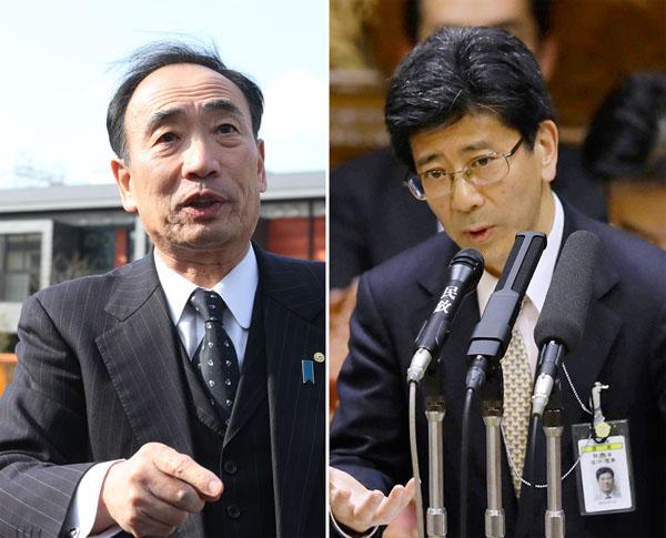 籠池氏(左)と佐川理財局長(C)日刊ゲンダイ