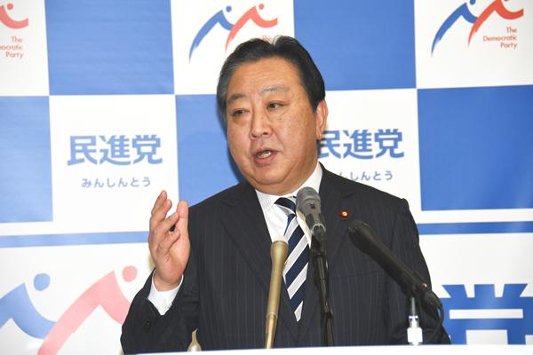 民進党・野田佳彦幹事長(C)日刊ゲンダイ