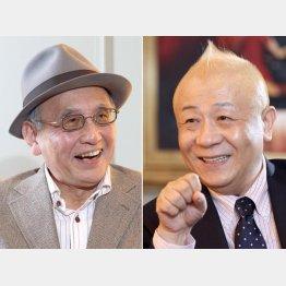 春風亭小朝(右)と吉川潮/(C)日刊ゲンダイ