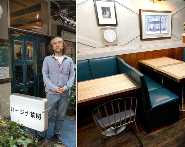 レトロ感あふれる外観、山口瞳とオーナー接さんの「応接室」(右)/(C)日刊ゲンダイ