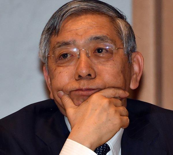 黒田日銀総裁は何を思う?(C)日刊ゲンダイ