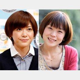 上野樹里(左)と姉のまな
